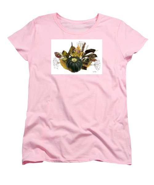 Acorn Squash Bouquet Women's T-Shirt (Standard Cut) by Lise Winne