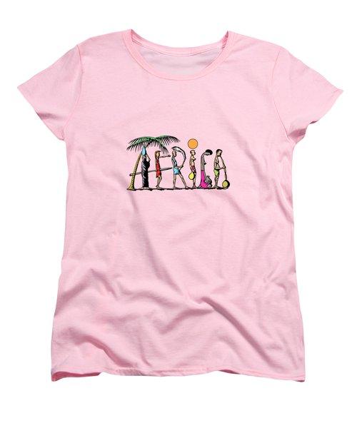 Africa Women's T-Shirt (Standard Cut) by Anthony Mwangi