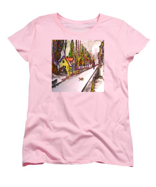Women's T-Shirt (Standard Cut) featuring the painting After The Showdown by Mojo Mendiola