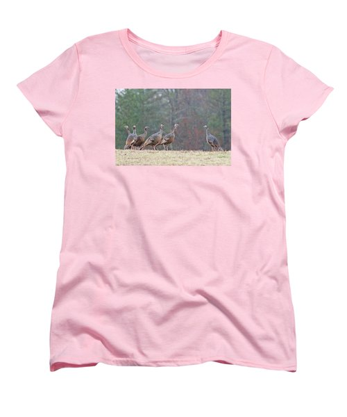 Women's T-Shirt (Standard Cut) featuring the photograph Against The Crowd 1287 by Michael Peychich