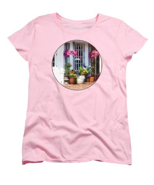 Alexandria Va - Corner Of King Street And S Alfred Women's T-Shirt (Standard Cut) by Susan Savad
