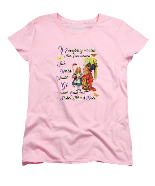 Alice With The Duchess Vintage Dictionary Art Women's T-Shirt (Standard Cut)