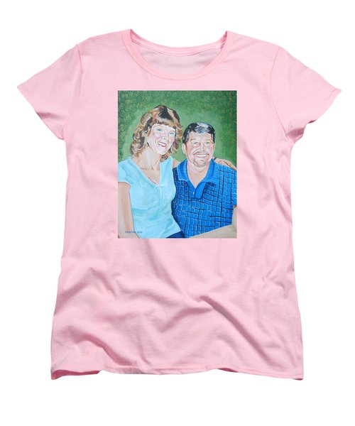 Alicia And Lee Women's T-Shirt (Standard Cut) by John Keaton