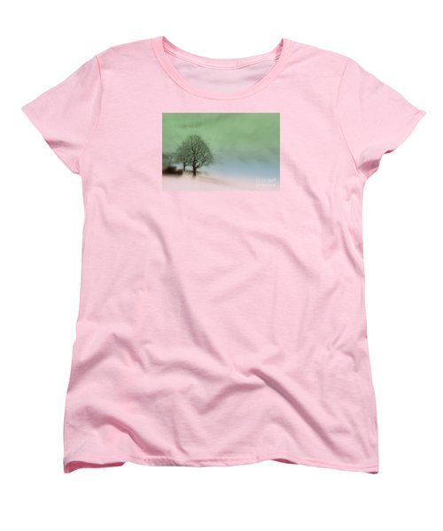Women's T-Shirt (Standard Cut) featuring the photograph Almost A Dream - Winter In Switzerland by Susanne Van Hulst