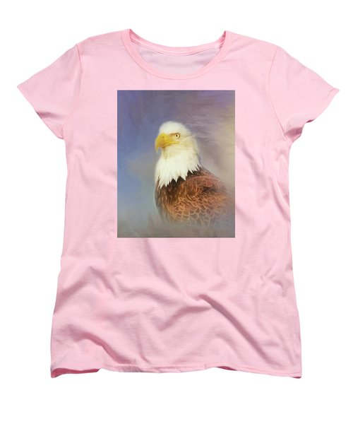 Women's T-Shirt (Standard Cut) featuring the painting American Eagle by Steven Richardson