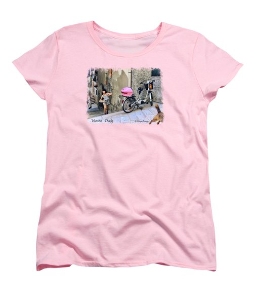 Angel Face.vieste.italy Women's T-Shirt (Standard Cut) by Jennie Breeze