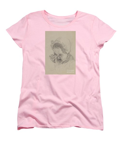 Women's T-Shirt (Standard Cut) featuring the drawing Angry by Annemeet Hasidi- van der Leij