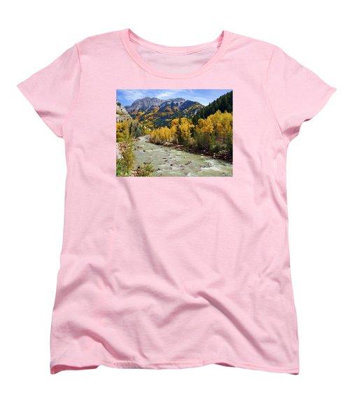 Women's T-Shirt (Standard Cut) featuring the photograph Animas River San Juan Mountains Colorado by Kurt Van Wagner