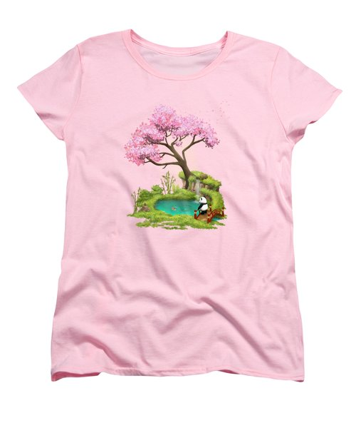 Anjing II - The Zen Garden Women's T-Shirt (Standard Cut) by Carlos M R Alves