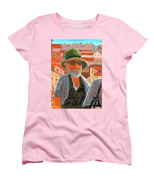 Women's T-Shirt (Standard Cut) featuring the painting Antibes Self by Gary Coleman