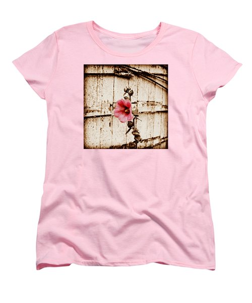 Antique Flower Women's T-Shirt (Standard Cut) by Julie Hamilton