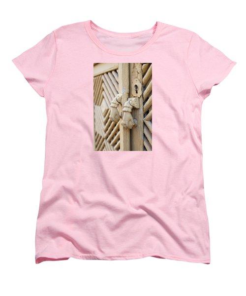 Antique Mediterranean Door-knocker Women's T-Shirt (Standard Cut) by Angelo DeVal