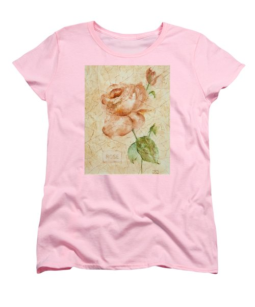 Antique Rose Women's T-Shirt (Standard Cut) by Debbie Lewis
