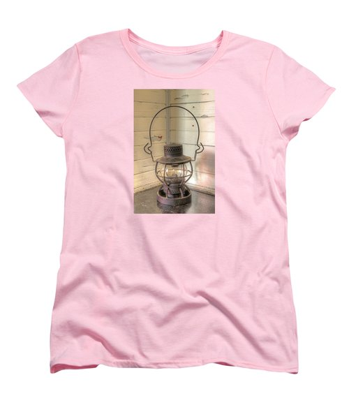 Women's T-Shirt (Standard Cut) featuring the photograph Antique Weighted Kerosene Lantern by Gary Slawsky