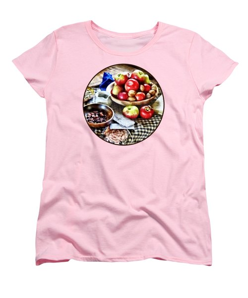 Apples And Nuts Women's T-Shirt (Standard Cut) by Susan Savad