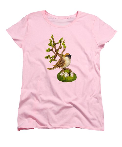 Arborescent Sparrow Women's T-Shirt (Standard Cut) by Przemyslaw Stanuch