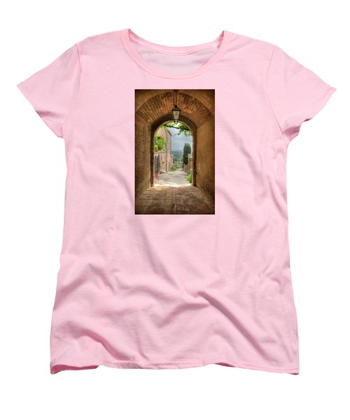 Arched View Women's T-Shirt (Standard Cut) by Uri Baruch