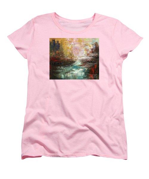 Women's T-Shirt (Standard Cut) featuring the painting Artist Whitewater by Tatiana Iliina