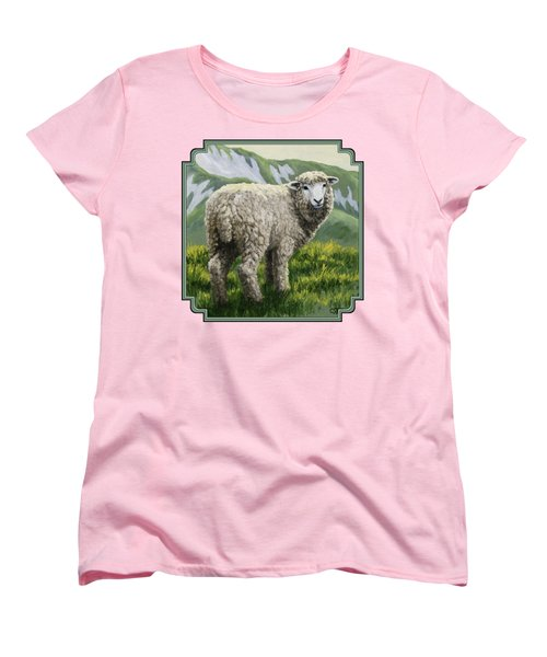 Highland Ewe Women's T-Shirt (Standard Cut) by Crista Forest