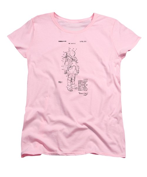 1973 Space Suit Patent Inventors Artwork - Vintage Women's T-Shirt (Standard Cut) by Nikki Marie Smith