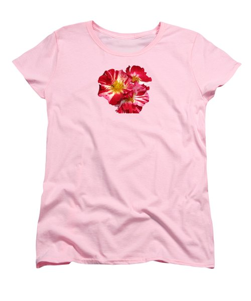 July 4th Rose Women's T-Shirt (Standard Cut) by M E Cieplinski