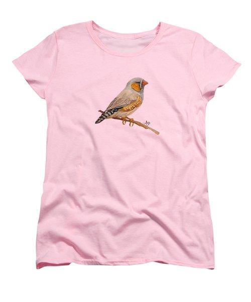 Zebra Finch Women's T-Shirt (Standard Cut) by Angeles M Pomata