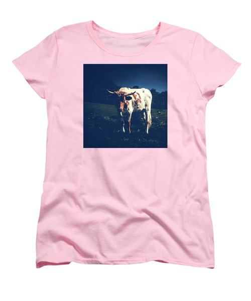 Women's T-Shirt (Standard Cut) featuring the photograph Midnight Encounter by Sharon Mau