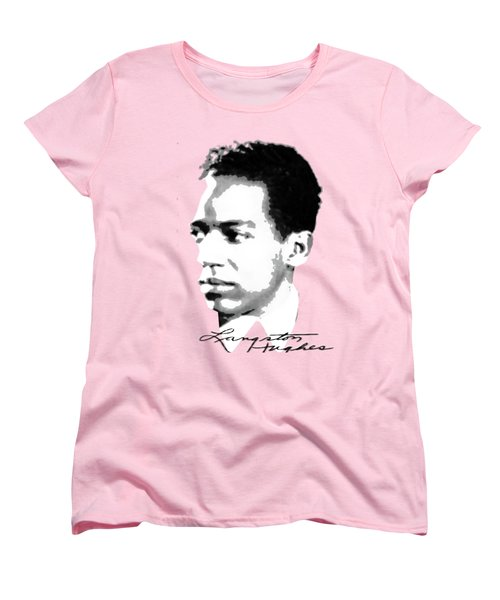 Langston Hughes Women's T-Shirt (Standard Cut) by Asok Mukhopadhyay