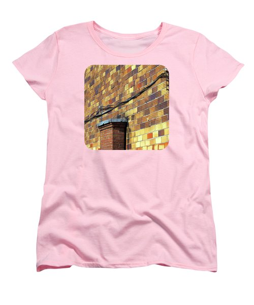 Women's T-Shirt (Standard Cut) featuring the photograph Bricks And Wires by Ethna Gillespie
