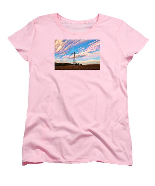 Crazy Wild Windmill Women's T-Shirt (Standard Cut) by Bill Kesler