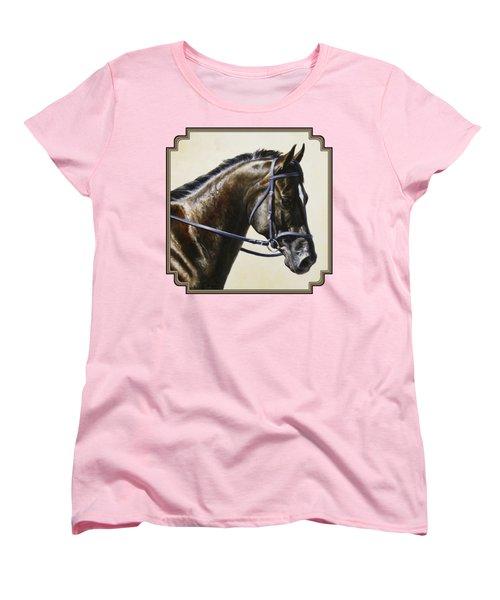 Dressage Horse - Concentration Women's T-Shirt (Standard Fit)