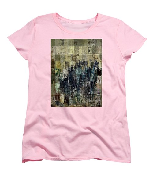 Women's T-Shirt (Standard Cut) featuring the painting Ascension - C03xt-159at2c by Variance Collections