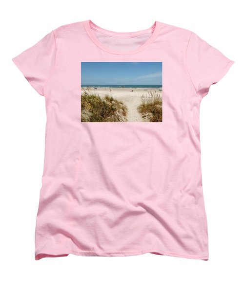 On The Beach Women's T-Shirt (Standard Cut) by Amar Sheow