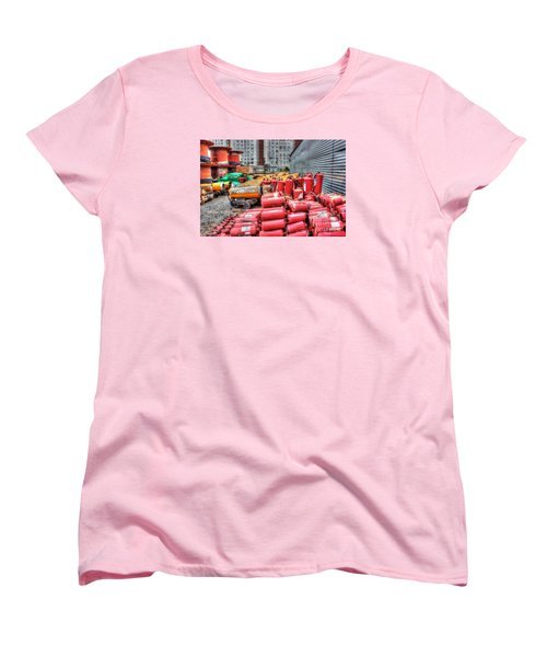 Women's T-Shirt (Standard Cut) featuring the pyrography Whsd At The Construction Site by Yury Bashkin