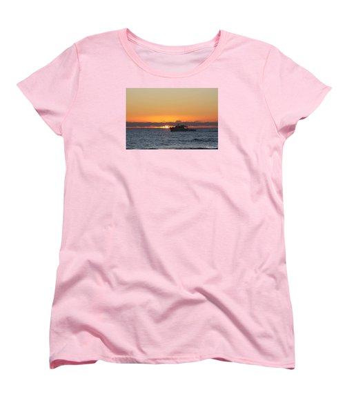 Atlantic Ocean Fishing At Sunrise Women's T-Shirt (Standard Cut)