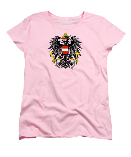 Women's T-Shirt (Standard Cut) featuring the drawing Austria Coat Of Arms by Movie Poster Prints