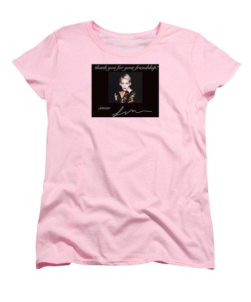 Autographed Portrait  Women's T-Shirt (Standard Cut) by Laura Michelle Corbin