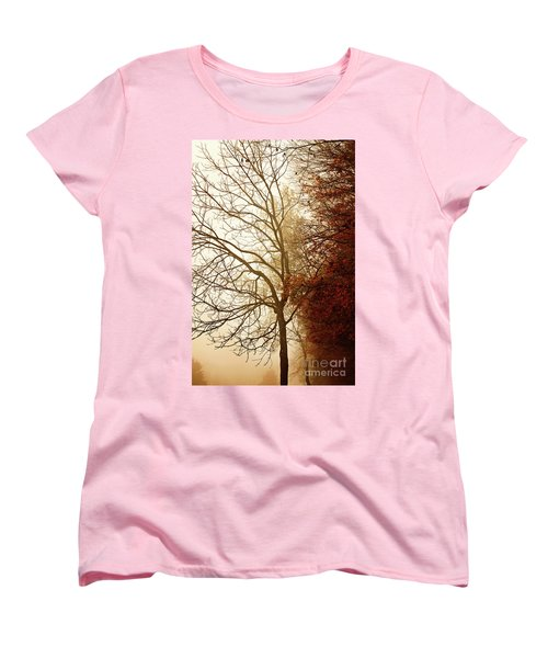 Autumn Morning Women's T-Shirt (Standard Cut) by Stephanie Frey
