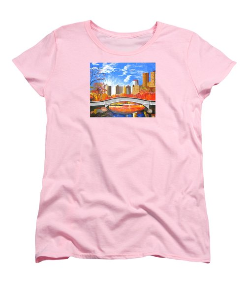 Autumn Oasis Women's T-Shirt (Standard Cut) by Donna Blossom