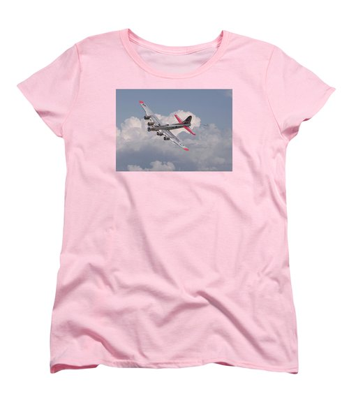 Women's T-Shirt (Standard Cut) featuring the photograph B17 - The Last Lap by Pat Speirs