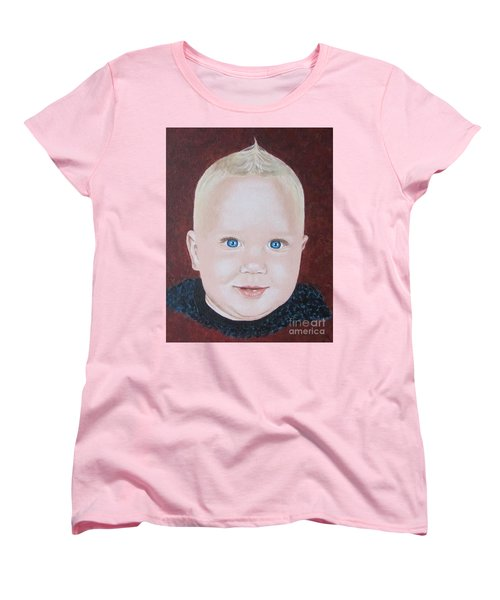 Women's T-Shirt (Standard Cut) featuring the painting Baby by Jeepee Aero