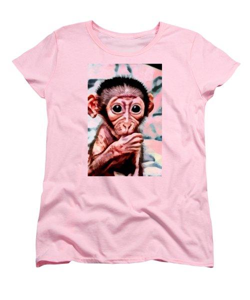 Baby Monkey Realistic Women's T-Shirt (Standard Cut) by Catherine Lott