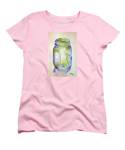 Ball Mason Jar Women's T-Shirt (Standard Cut) by Loretta Nash