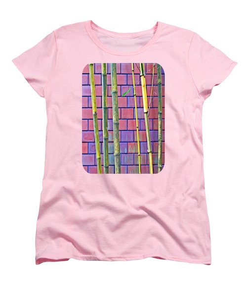 Bamboo And Brick Women's T-Shirt (Standard Cut) by Ethna Gillespie