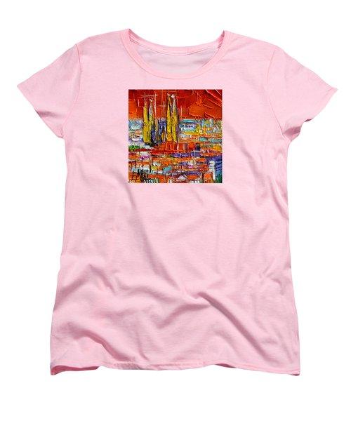 Barcelona View From Parc Guell - Abstract Miniature Women's T-Shirt (Standard Cut)