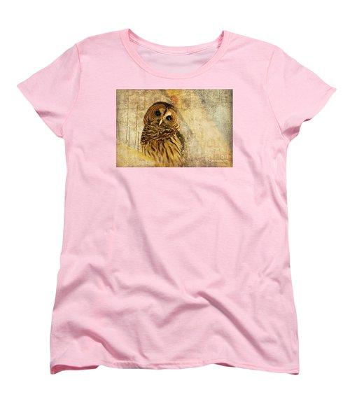 Barred Owl Women's T-Shirt (Standard Cut) by Lois Bryan