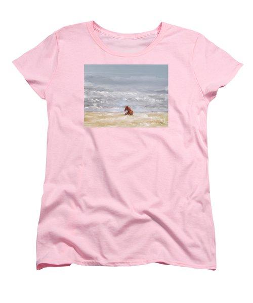 Women's T-Shirt (Standard Cut) featuring the photograph Beach Baby by Lois Bryan
