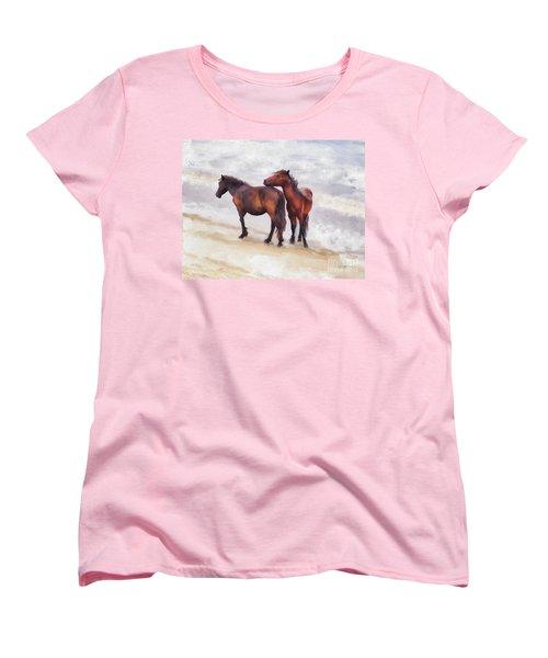 Women's T-Shirt (Standard Cut) featuring the photograph Beach Buddies by Lois Bryan