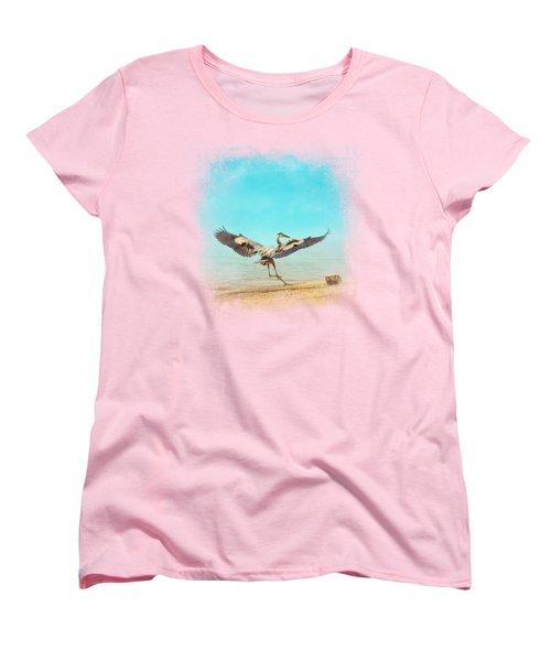 Beach Dancing Women's T-Shirt (Standard Cut) by Jai Johnson