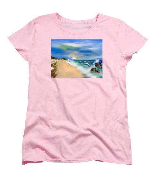 Beach Energy Women's T-Shirt (Standard Cut) by Frank Bright